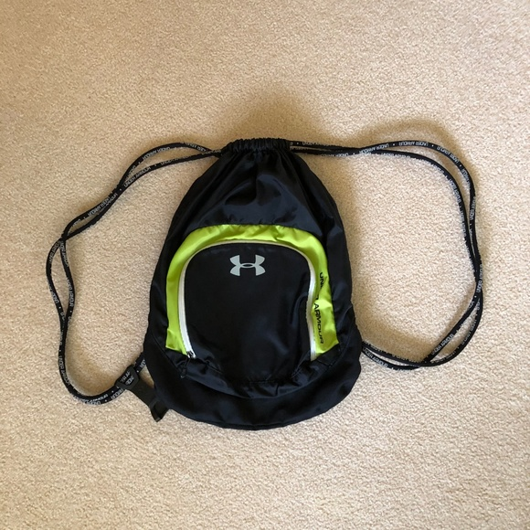 Under Armour Handbags - Under Armour Lime Green & Black Drawstring bag